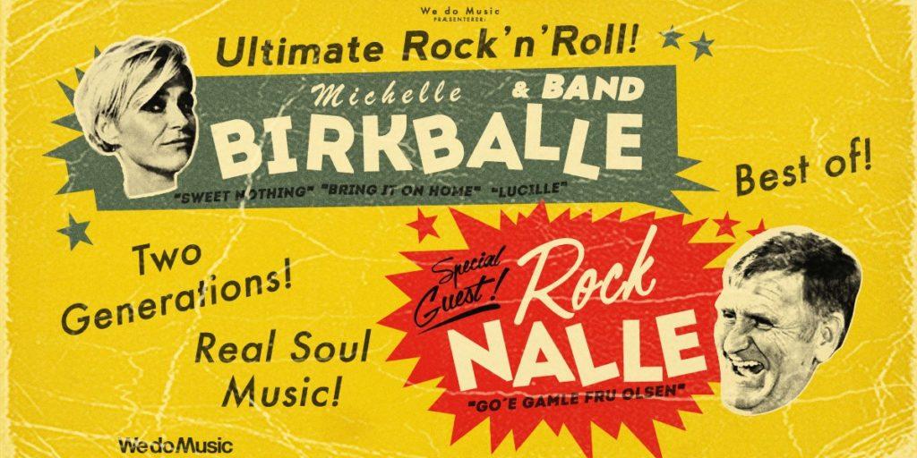 To af landets absolut sejeste stemmer mødes, når Michelle Birkballe inviterer Danmarks rock'n'roll konge Rock Nalle med på landevejen